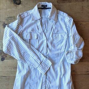Express essential stretch dress shirt